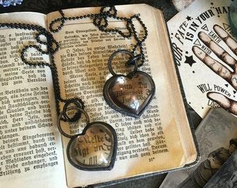 Smoky Quartz Necklace / Crystal Heart Necklace / Electroformed Crystal Jewelry / Healing Crystal Heart Pendant Charm / Smoky Quartz Heart