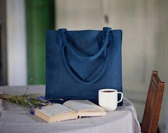 Genuine leather tote shoulder handbag from mat leather