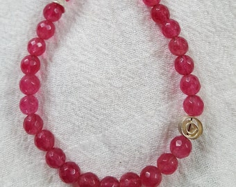 Faceted pink Ruby