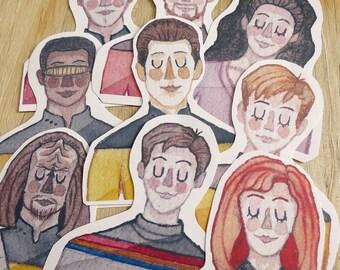 Star Trek TNG Stickers