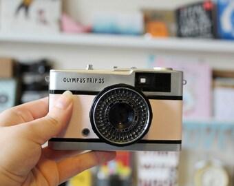 Vintage Olympus Trip 35 camera PINK