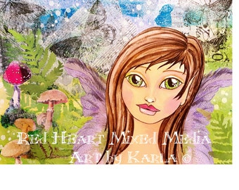 Woodland Fairy ~ Art Print