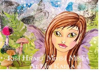 Woodland Fairy ~ Art Print