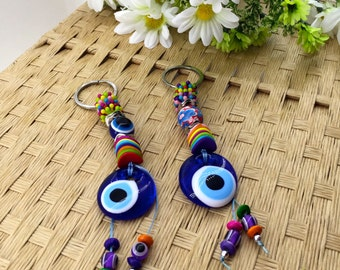 Evil Eye Keychain - Nazar Protection - Colorful Keychain - Perfect Gift - Turkish Evil Eye - Keychain