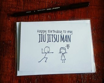 Happy Birthday Jiu Jitsu Card