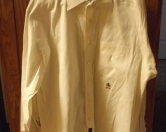 SALE Mens Vintage Tommy Hilfiger Old School Button Down Shirt White 16 34