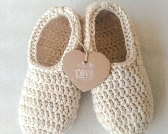 Women slippers, crochet slippers, gift for women, sock slippers, healthy gift, all colors ready to ship, pale pink