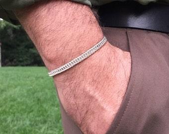 Men's Sterling Silver Bracelet, Men's Persian Bracelet, Men's Link Bracelet, Men's Jewelry, Persian Link Bracelet, Men's Bracelet, Man Gift