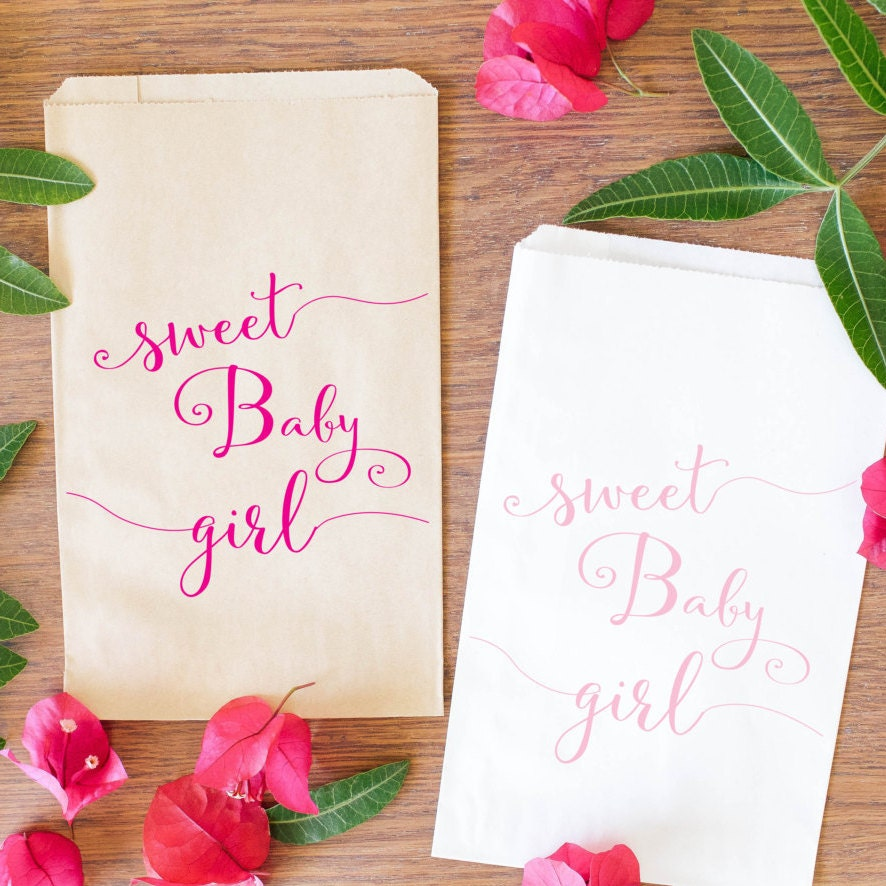 baby shower candy bags baby girl treat bags baby shower
