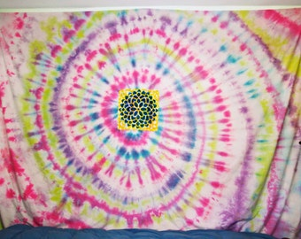 Multicolor Spiral Tie-Dye Wall Hanging