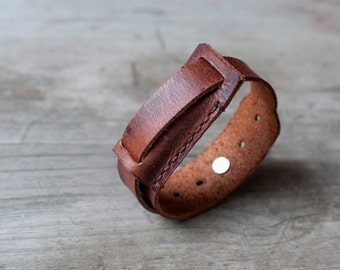 Handmade leather Fitbit Flex bracelet, simple fitbit flex band, handcrafted fitbit flex band bracelet, fitbit flex