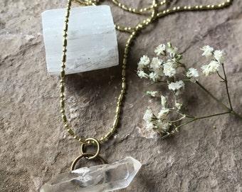 Horizontal Quartz necklace
