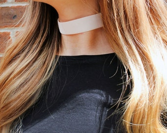 Thick Velver White Choker Necklace