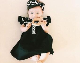 Black & Cream Triangle Turban
