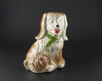 Vintage Ceramic Spaniel Dog Made in BRAZIL, Brazilian Made Dog Figurine, Spaniel Dog, Made in Brazil Dog, Porcelain Dog, Dog Lovers Gift