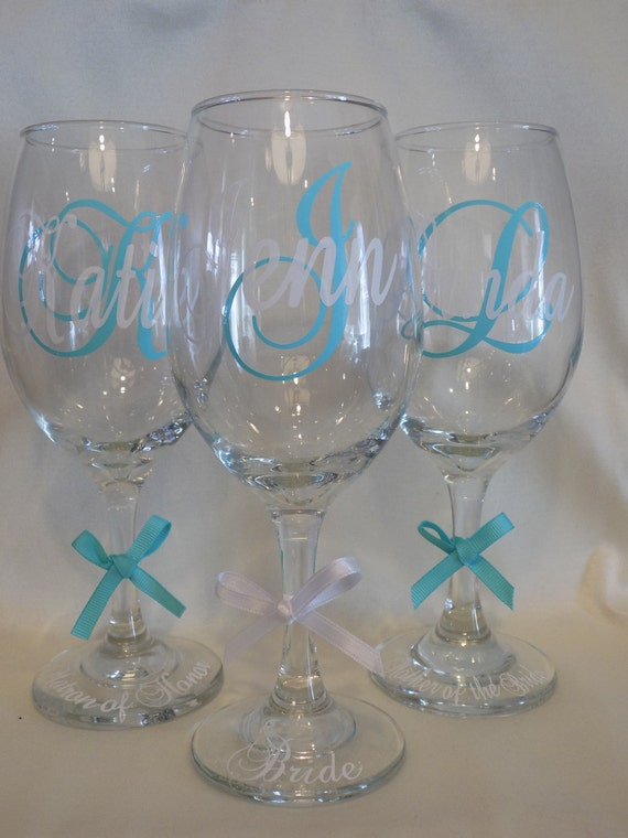Sale Personalized Wine Glasses Wedding Glasses Mother Of
