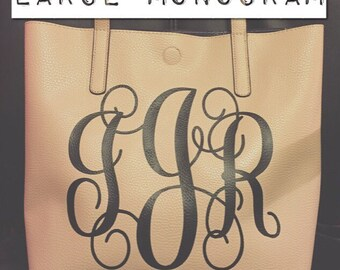 ADD ON - Large Monogram for Faux Leather Bag