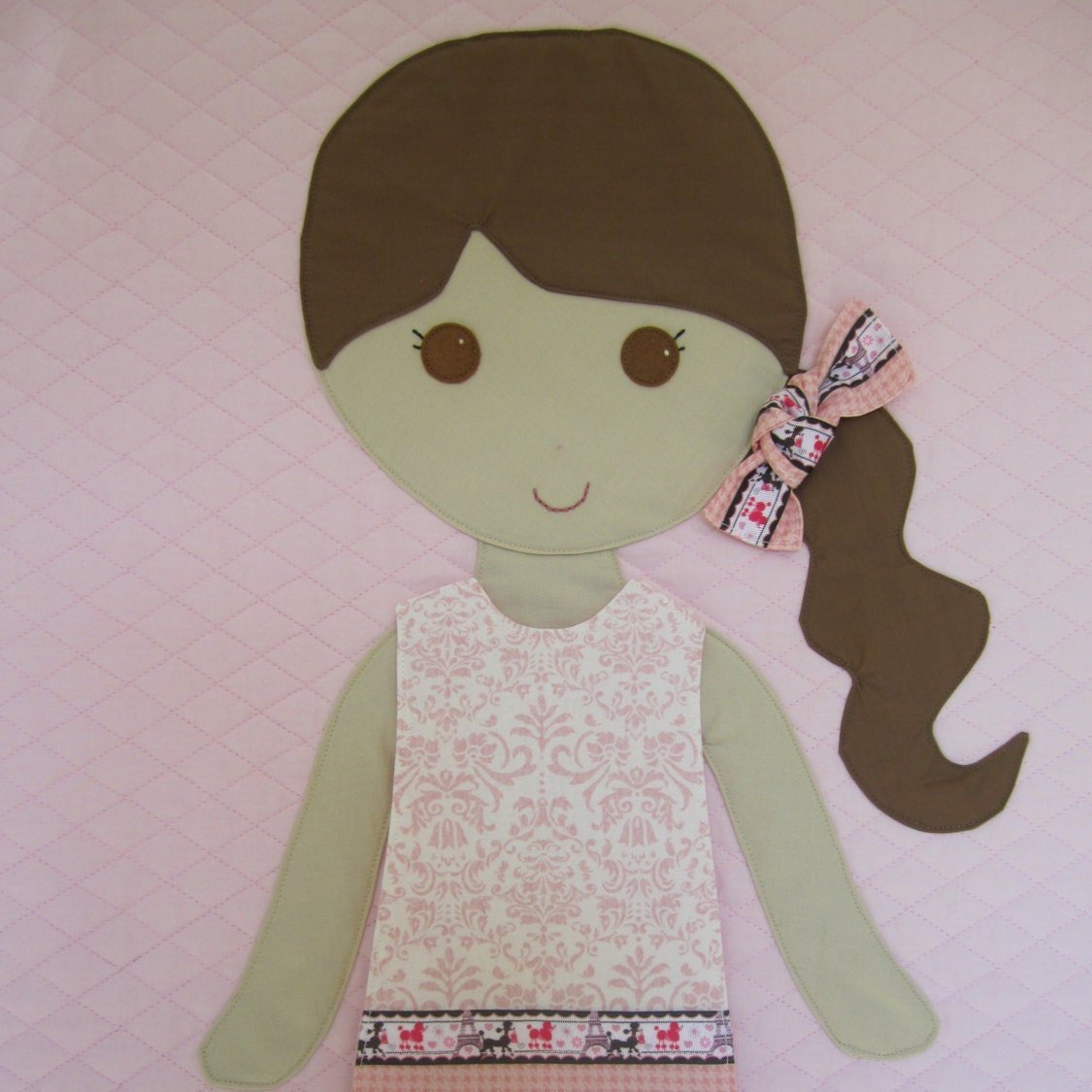 Paper Doll Blanket Quilted Children S Blanket Baby