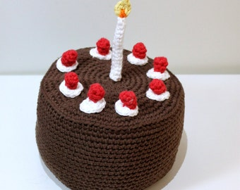 Video game Chocolate Cake Amigurumi Crochet Pattern