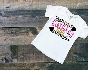 Girls Birthday Shirt - Birthday Girl - Glitter Birthday - Birthday Shirt - Birthday Top- Glitter Birthday Shirt