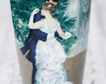 PORTRAIT Vase, collector's porcelain, Goebel Artis Orbis, large, featuring Danse en Ville, after Renoir