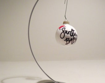 Santa Baby Christmas Ornament Handpainted