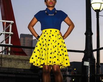 Polka Dot Mini Skirt,