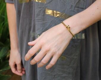 gold knot bracelet,open bracelet,statement bracelet,bridesmade gift,cuff bracelet,knot bracelet,giftfor her