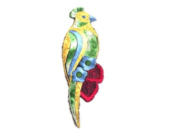 Bird Applique / 1930s Vintage Embroidered Bird  applique / application / patch. Vintage patch, sewing supply.  #641G86K16
