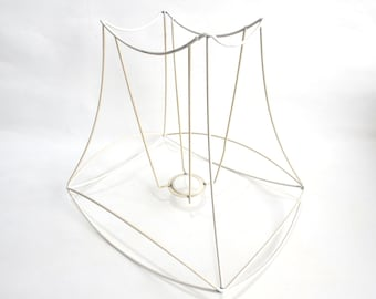 Lampshade frame, wire frame, Authentic vintage lampshade wire frame. Lampshade frame DIY. #642GAFK19