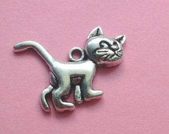 4 Cat Charms Silver - CS2083