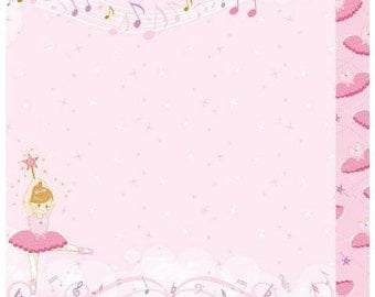 Best Creations Ballet Princess Scrapbooking Double Sided Paper