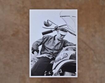 Elvis On His Harley Postcard Memphis 1956 Wertheimer Collection