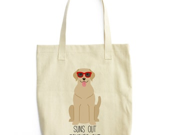Yellow Lab Tote Bag | Dog Lover Gift | Yellow Lab Canvas Bag | Dog Tote Bag | Dog Bag | Funny Pet Tote Bag | Gift for Dog Lover