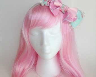 Sweet Lolita Hairbow Headband ~Radiant Rose Garden~