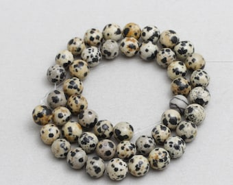 47Pcs Dalmatian Jasper Beads, Full Strand, Gemstone Beads, Natural Jewelry Beads,8.5mm(Approx), sku/MRY15