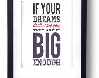 Printable dreams inspirational art