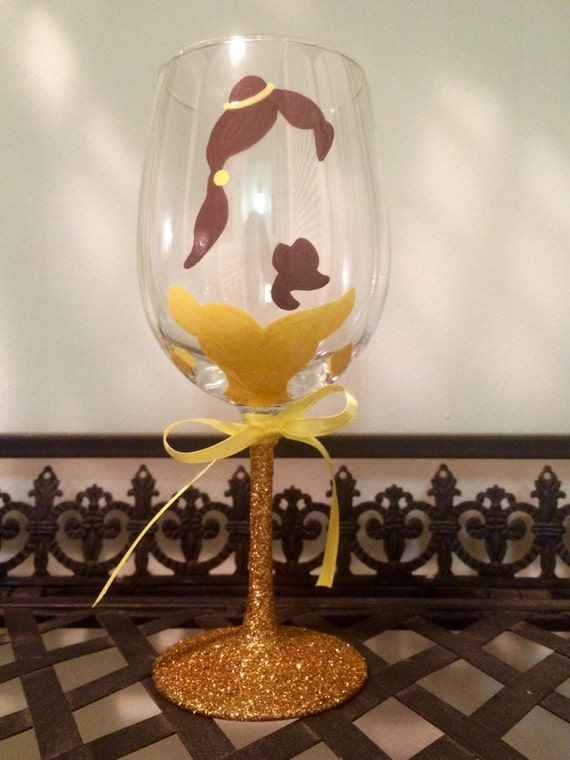 Disney Belle Wine Glass