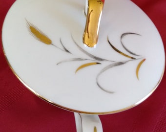 Eternal Harvest   Sugar,  Creamer and Gravy Boat    fine china    Japan   mid-century    24 karat gold