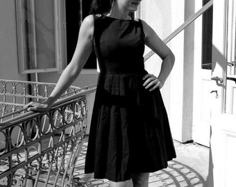 Vintage 1950s Secretary Dress - Grey