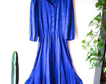 Royal Blue Silk Liz Claiborne Dress