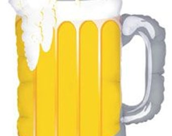 "Beer Balloon- 32"" Balloon- Frosty Beer Mug- Party Balloon"