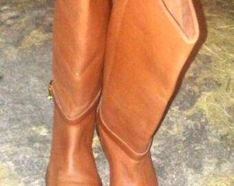 Vintage Apostrophe riding boot