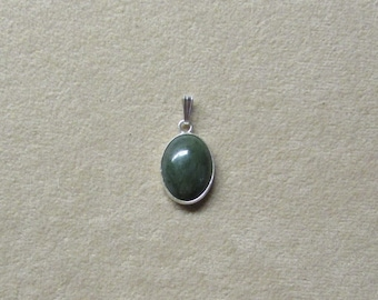 Beautiful Jade STERLING silver pendant.