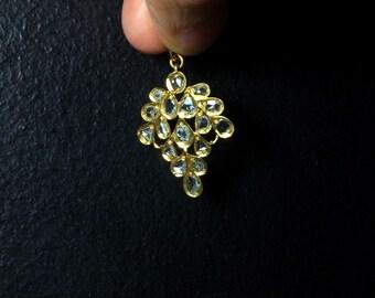 20k Antique Rose Cut Diamond Pendant, Chinese Jewelry