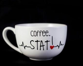 Coffee. STAT!, 15 oz. Cappuccino Mug