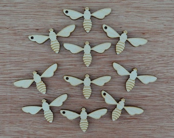 Lot of Bee Silhouette, Cutout, Shape, Wooden, Plywood, diy     1121