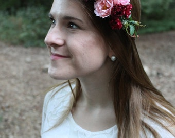 Flower Crown, Boho Crown, Wedding Crown, Bridesmaid Crown
