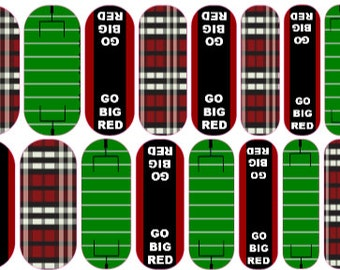 Go Big Red Custom Nail Wraps