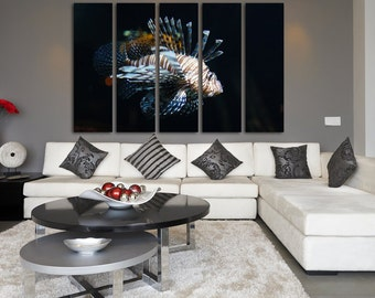 Lionfish Wall Art Lionfish Wall Decor Lionfish Poster Lionfish Canvas Lionfish Print Lionfish Photo Tropical fish Underwater Life Lionfish